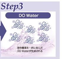 Step3 溶存酸素をいっぱいに含んだDOWaterが生成される